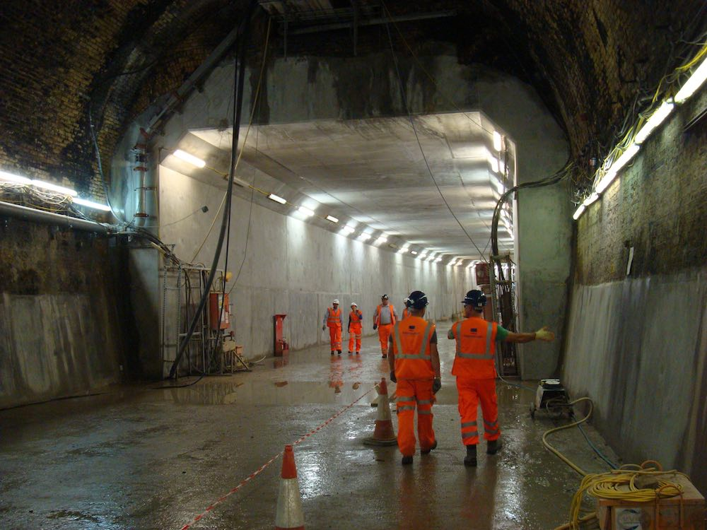 Connaught Tunnel repair 1