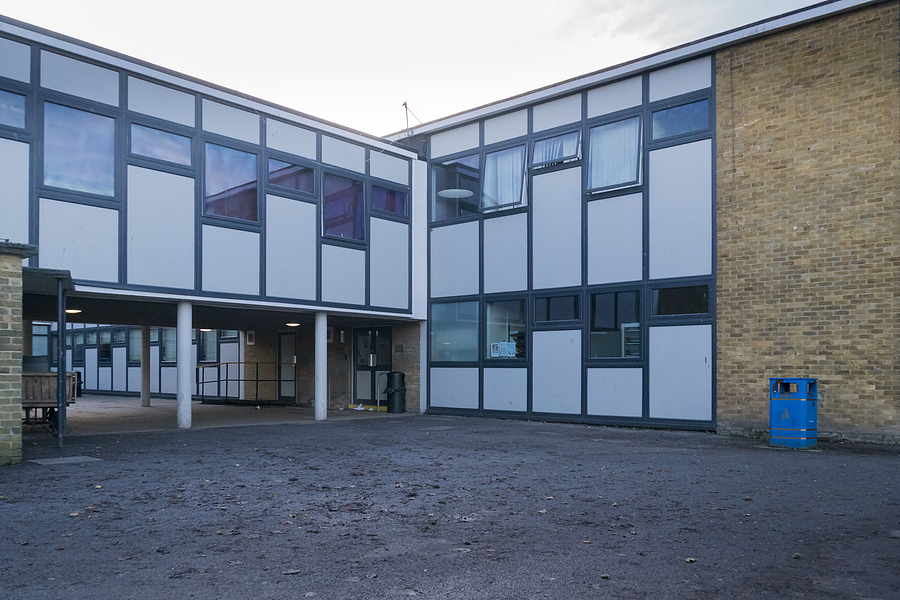 Faversham, Kent, Uk, November 2019 – Typical Secondary School Bu
